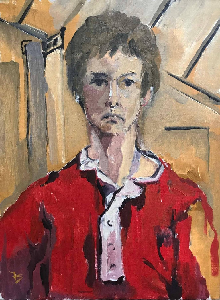 Fay Singer Figurative Painting - Man in Red