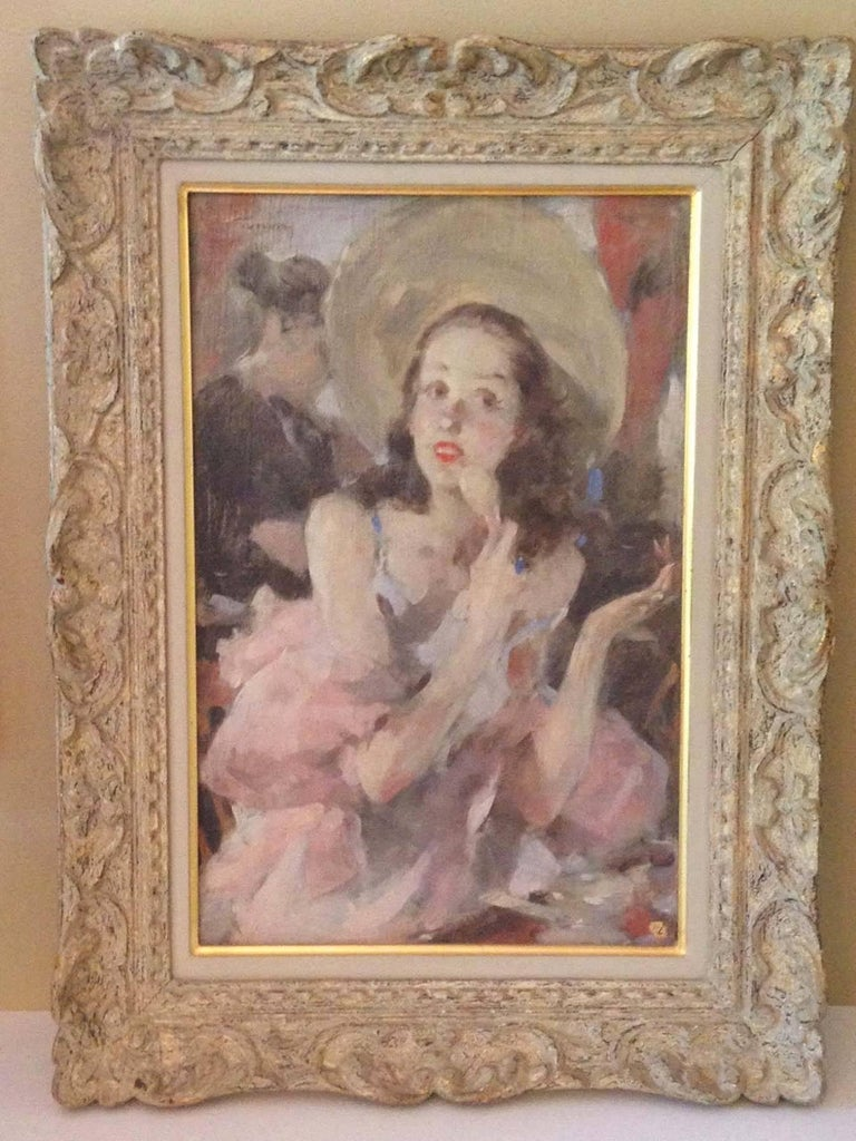 Boudoir - Painting by Jacques Gonin