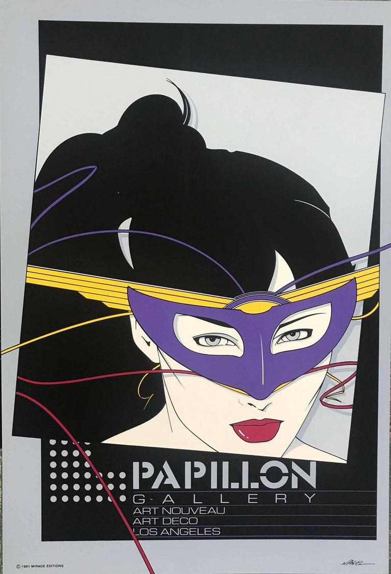 Patrick Nagel Figurative Print - Papilllon