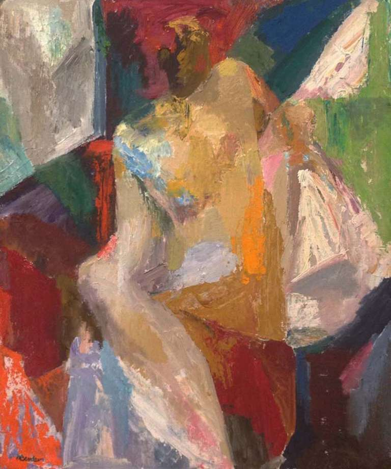 May Bender Figurative Painting - Abstract Nude