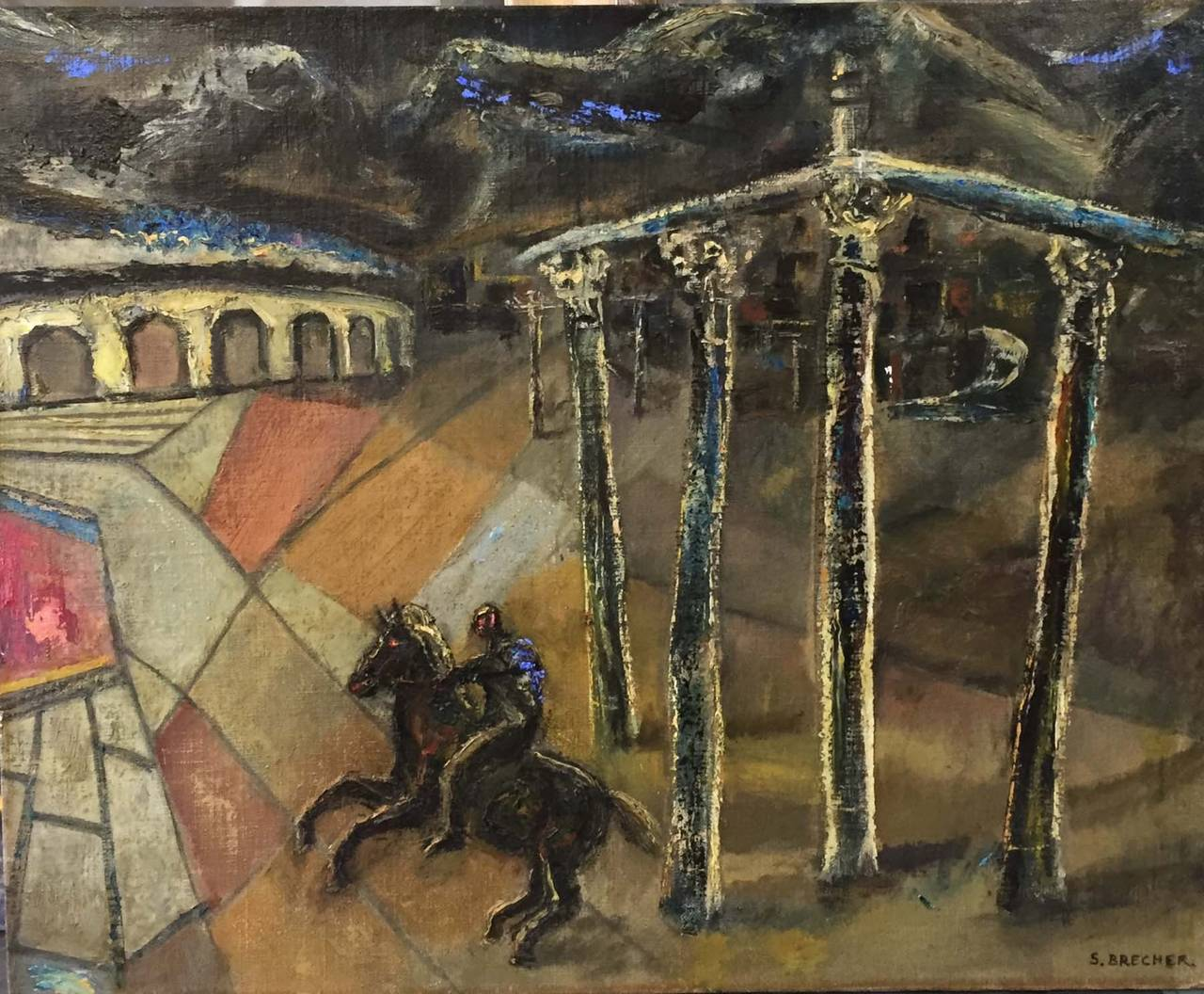 Samuel Brecher Landscape Painting - RUINS OF POMPAII