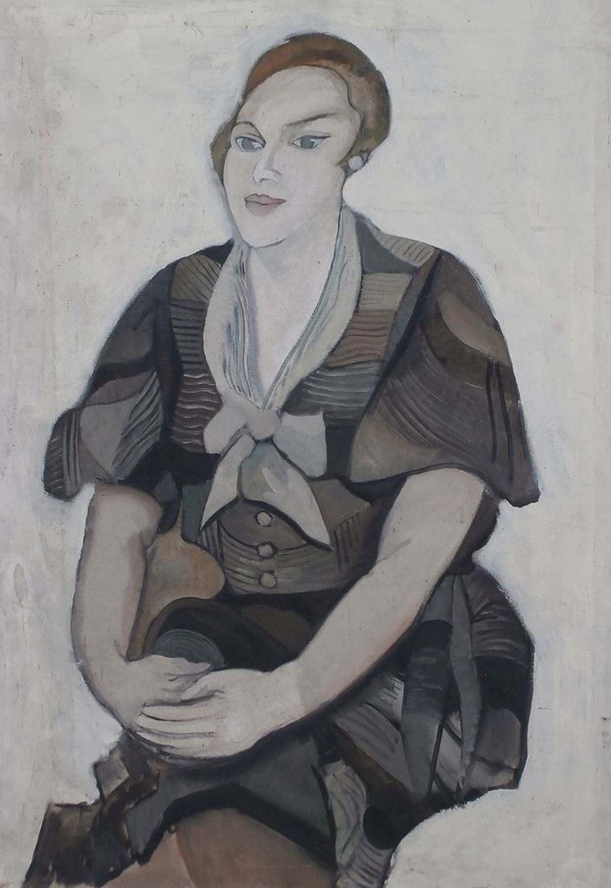 AURELIA CALOENESCO Figurative Painting - Portrait of a Woman