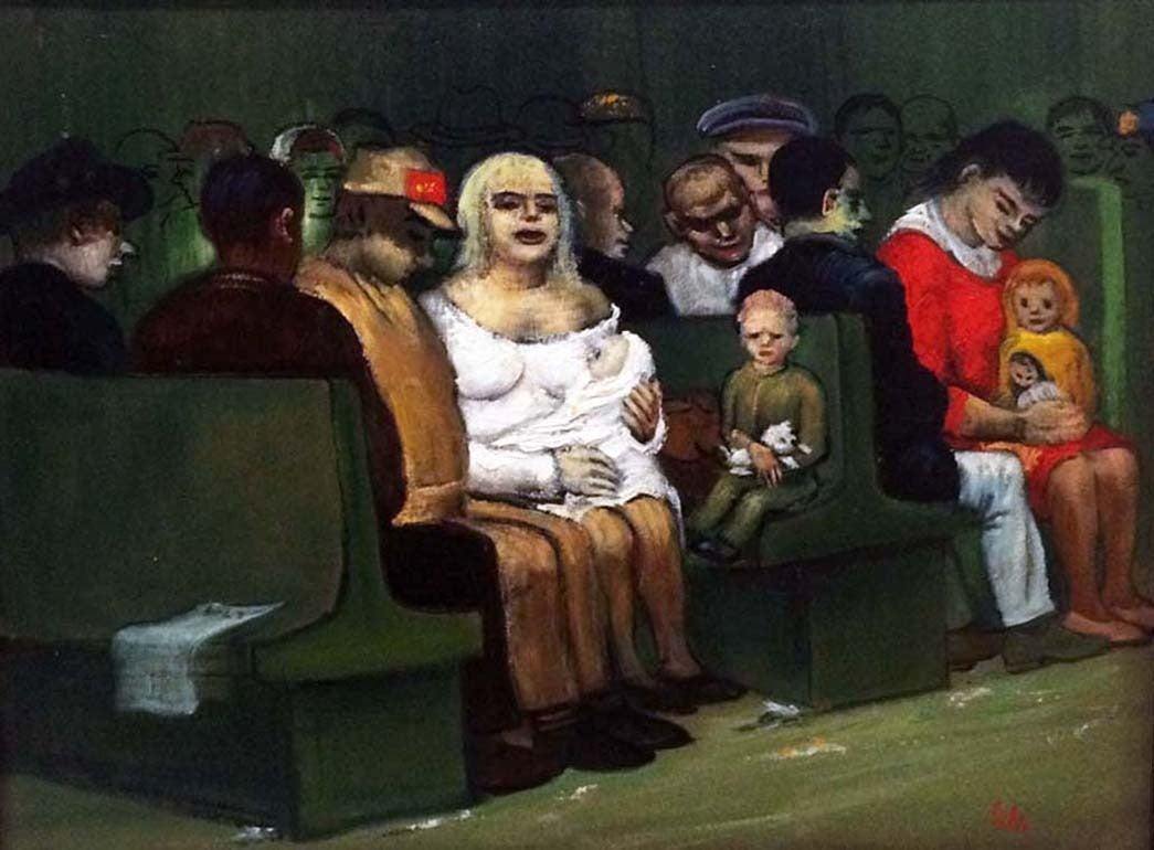 Albert Pels Figurative Painting - Waiting