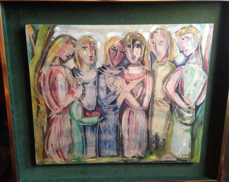 The Conversation - Painting by Manfredo Borsi