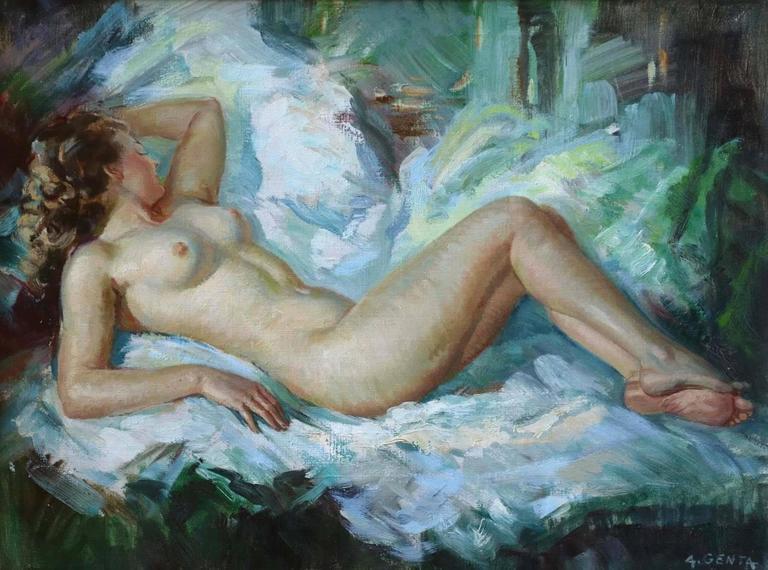 Albert Genta Figurative Painting - Resting Nude
