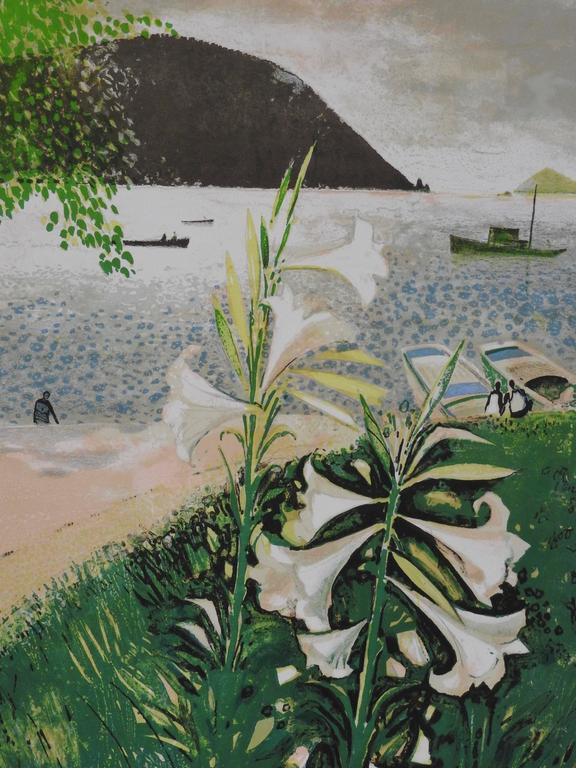 René Genis Landscape Print - Lys de Patmos