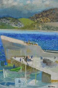 Guy Bardone - Le cargo à Quai-Karpathos-Grece