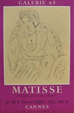 "Exhibition poster ""Matisse Dessins-Gravures Rares"""