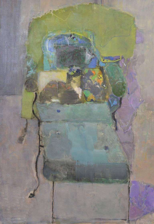 Pierre lesieur chaise longue noire et chat painting at for Chaise longue noire