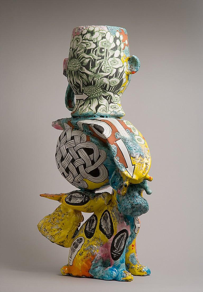 Michael Lucero Terrier Talker Ceramic Sculpture For