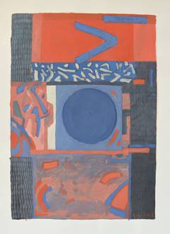 Gabriel Godard - Composition in red and blue