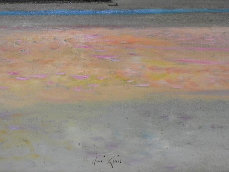 Rio Napo, Amazone - Post-Impressionist Painting by René Genis