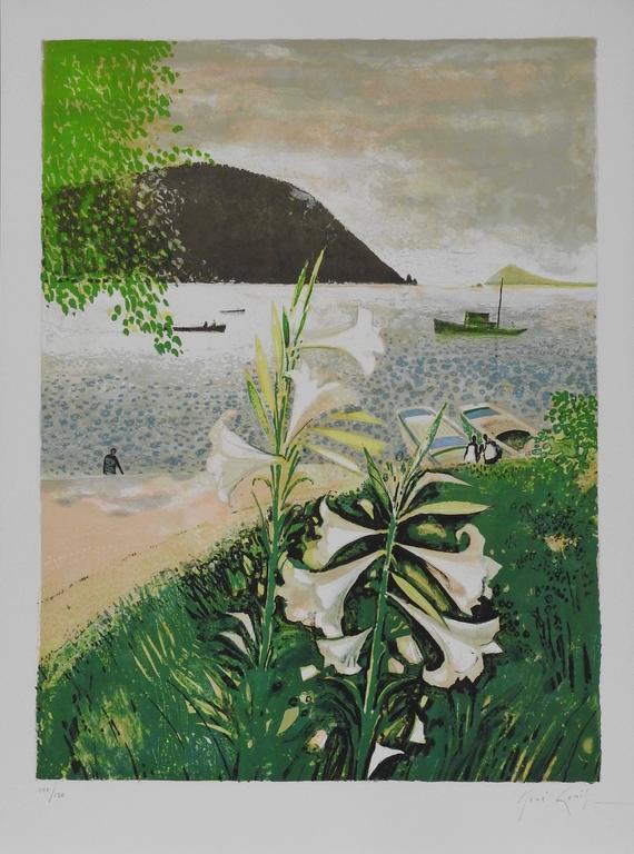 Lys de Patmos - Modern Print by René Genis