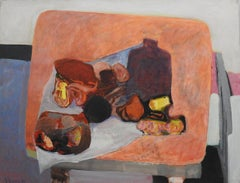 Nature morte table rouge