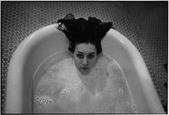 Laurie in the bathtub