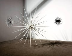 """""""Windseeds"""", Large Outdoor Aluminum Sculpture, Abstract, White"""