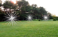 """Windseeds"", Large Outdoor Aluminum Sculpture, Abstract, White"