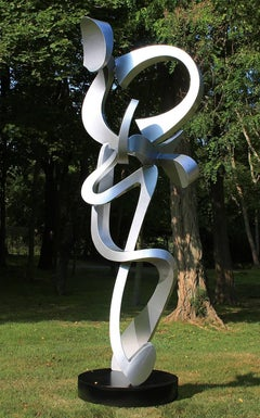 """Sundance"" by Kevin Barrett, Unique Abstract Metal Sculpture in Aluminum"