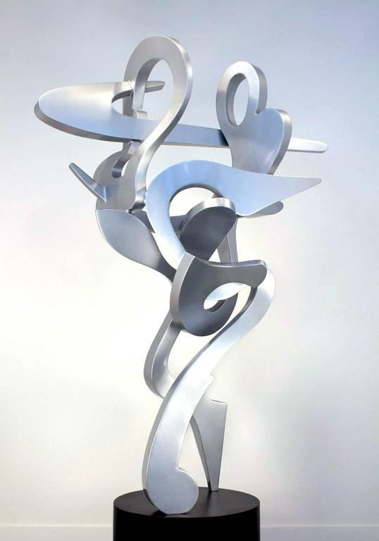 Dash Outdoor Sculptutre Abstract Metal Sculpture By Kevin Barrett For Sale 2