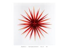 Red Star No. 1 Glass Sculpture