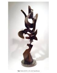 Naj table top, cast bronze abstract sculpture