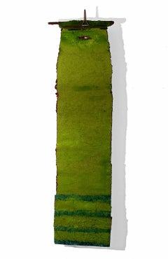 """""""Moss"""" Abstract, Hanging Wall Relief Sculpture, Handmade Paper Sculpture"""