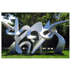 """Family Ties""  Large Outdoor Abstract Aluminum Metal Sculpture, Contemporary"
