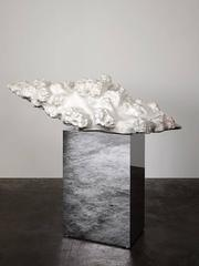 Cumulus Stomnes No. 1 Marble Abstract Sculpture Mirror Base