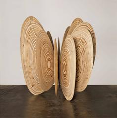 Norman Mooney - Butterfly Effect-Norman Mooney large wood, abstract sculpture