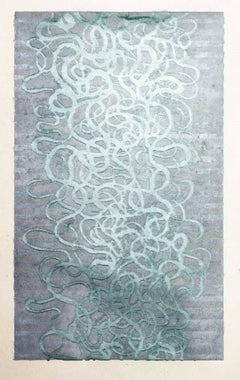 Arabesque 1 Abstract Wood Cut on Paper