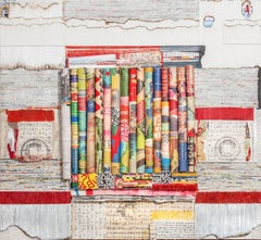 Free Press-Joan Giordano mixed media & paper, wall relief sculpture