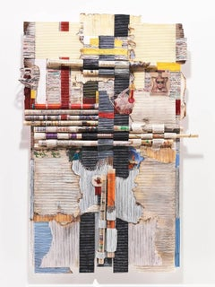 Magical Thinking-paper collage, abstract wall sculpture/ releif