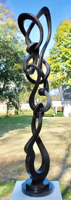 Groove by Kevin Barrett Large Metal Bronze Abstract Outdoor Sculpture