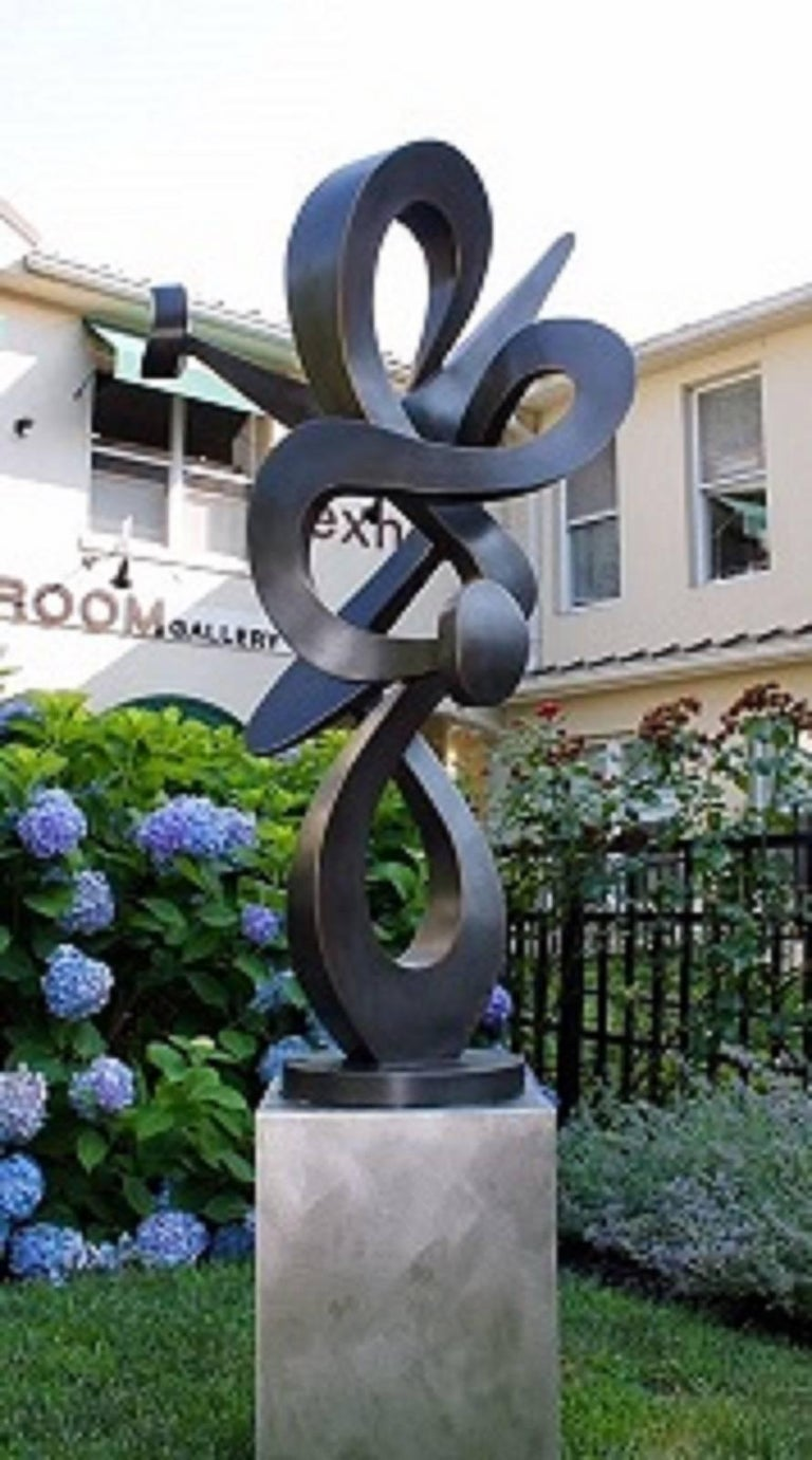Miles-Kevin Barrett unique bronze abstract outdoor sculputure Large scale