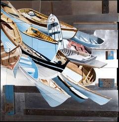 """Ellipism"", Mike Sagato, Oil Painting on Aluminum, 2014"