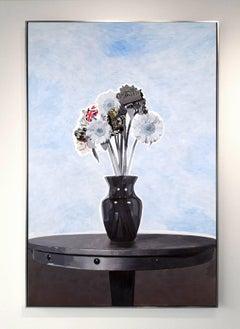 """Heroes"", Mike Sagato, Oil Painting on Aluminum, 2014"