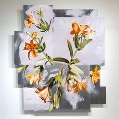 """Josouka"", Mike Sagato, Floral, surreal, Oil Painting on Aluminum, 2014"