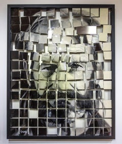 """""""Kuebiko"""", Mike Sagato, Oil Painting on Aluminum, 2014"""