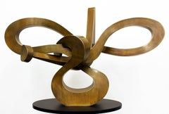 """Infinite"", Kevin Barrett, Unique Fabricated Bronze Abstract Sculpture"