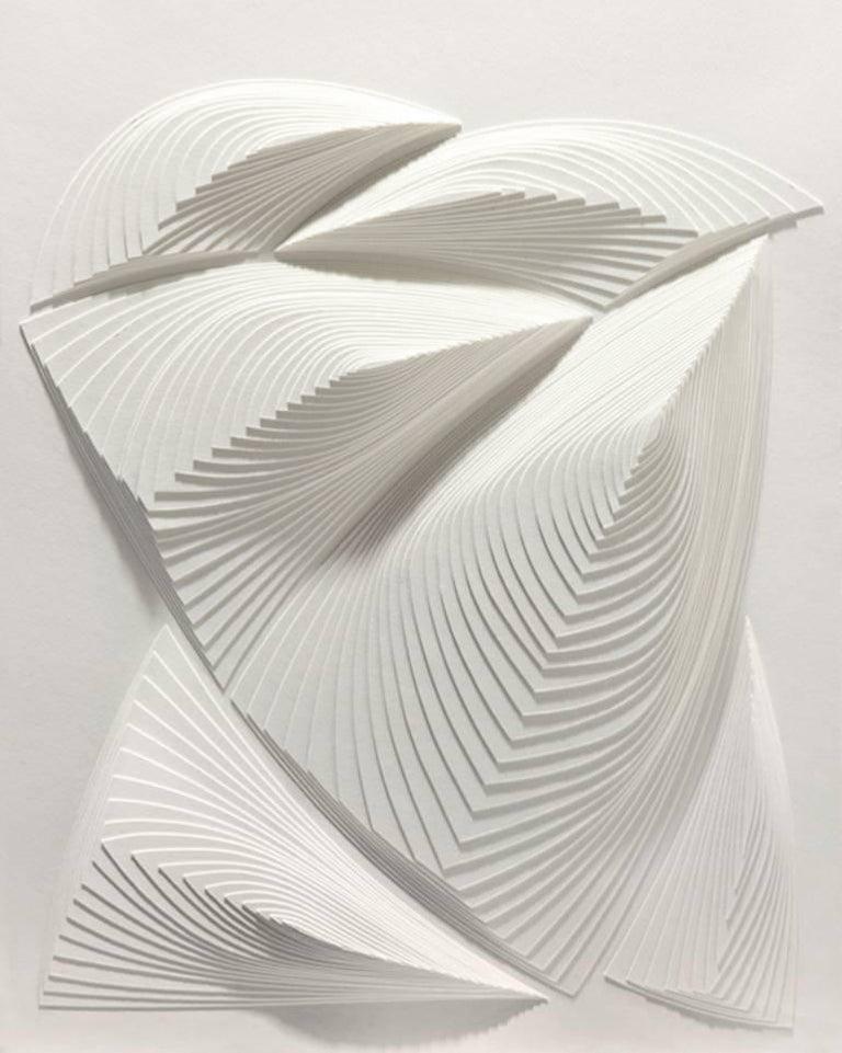 """White Freeform - Out"", Elizabeth Gregory-Gruen, Hand Cut Paper Wall Sculpture"