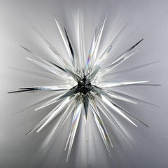 Clear Star No. 1, Norman Mooney, Glass Wall Relief Sculpture