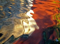 Water Reflection, Geoffrey Baris, Nature Photography, Color, Red, White, Blue