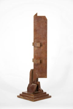 """1099"", Richard Heinrich, Abstract Contemporary Bronze Sculpture, Metal"