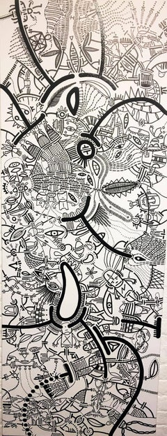 Microtelescopic Slide, Halsey Chait, Large Abstract Drawing, Illustration