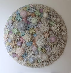 """Magic Circle Color"", Wall Sculpture, Hand Cut, Laser Cut Paper"