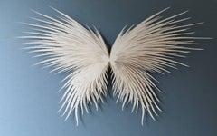 """Angel Wings"", Wall Sculpture, Hand Cut, Laser Cut Paper"