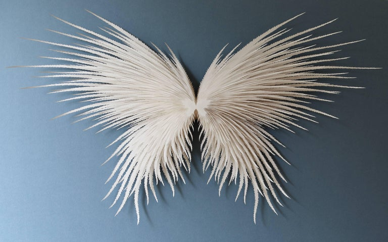 """Angel Wings"", Wall Sculpture, Hand Cut, Laser Cut Paper"