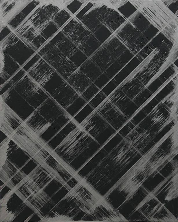 Ed Moses Abstract Painting - Black/Silver