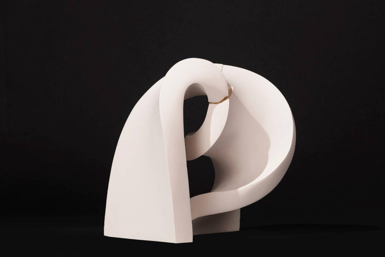 Convoluted  - Black Abstract Sculpture by Stephanie Bachiero