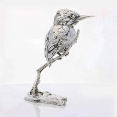'Kingfisher' Sterling Silver Sculpture By Lucy Kinsella
